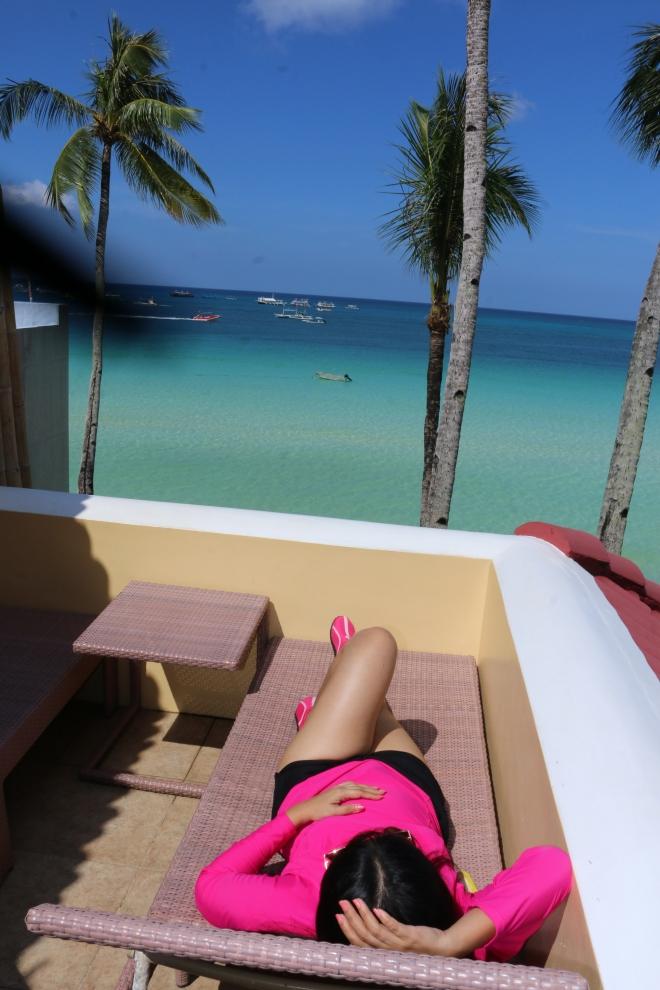 sunbathing veranda