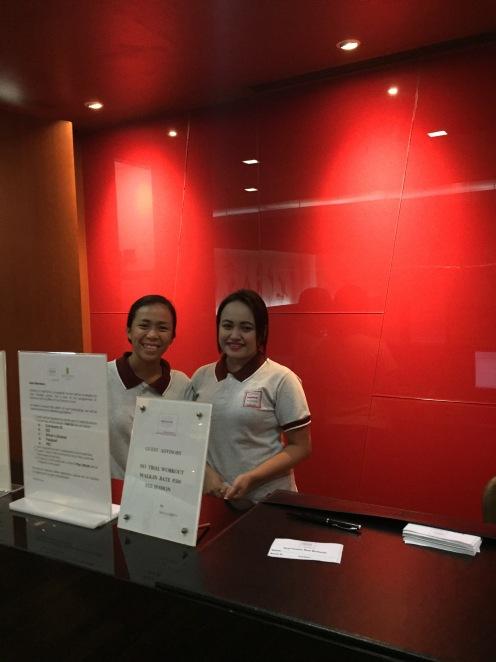 Fitness club receptionists