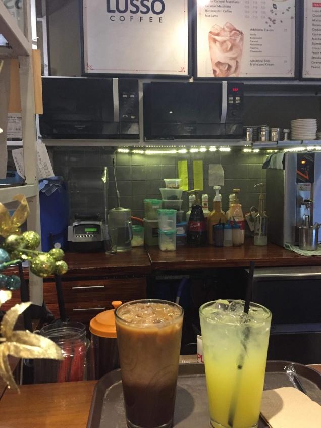 Cafe Mocha and Lemonade