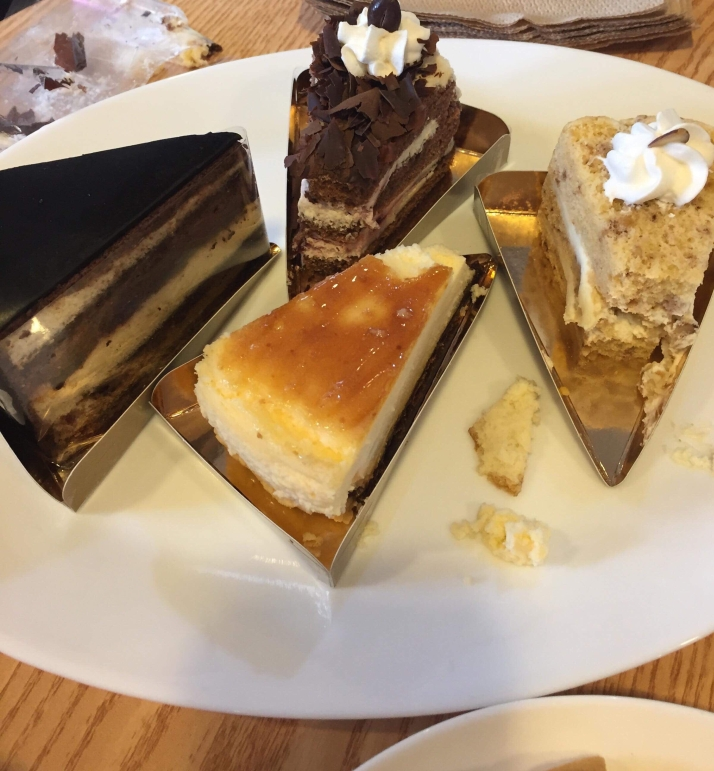 The desserts at le Vain Bakery