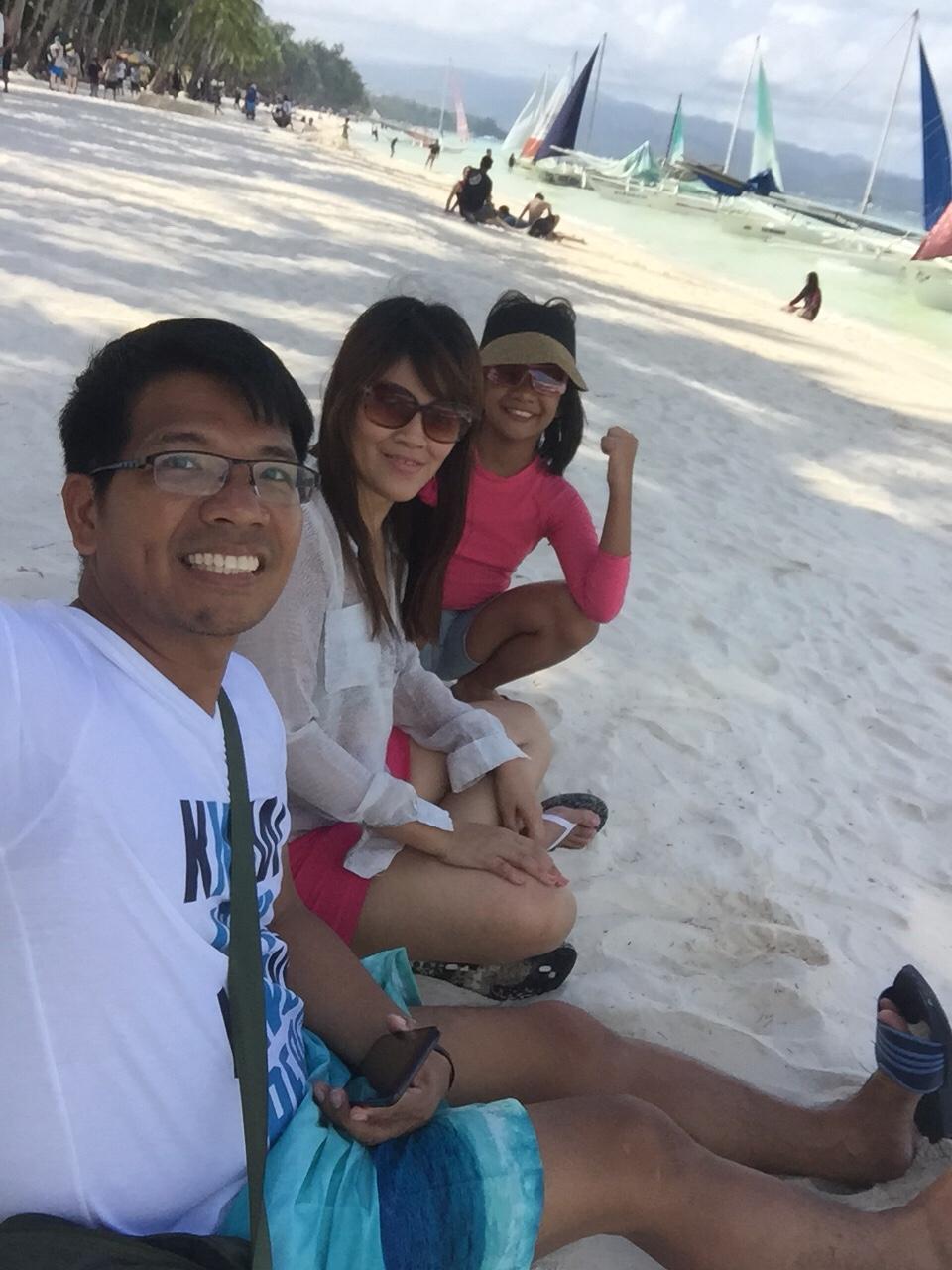 Family pic day 2 white beach