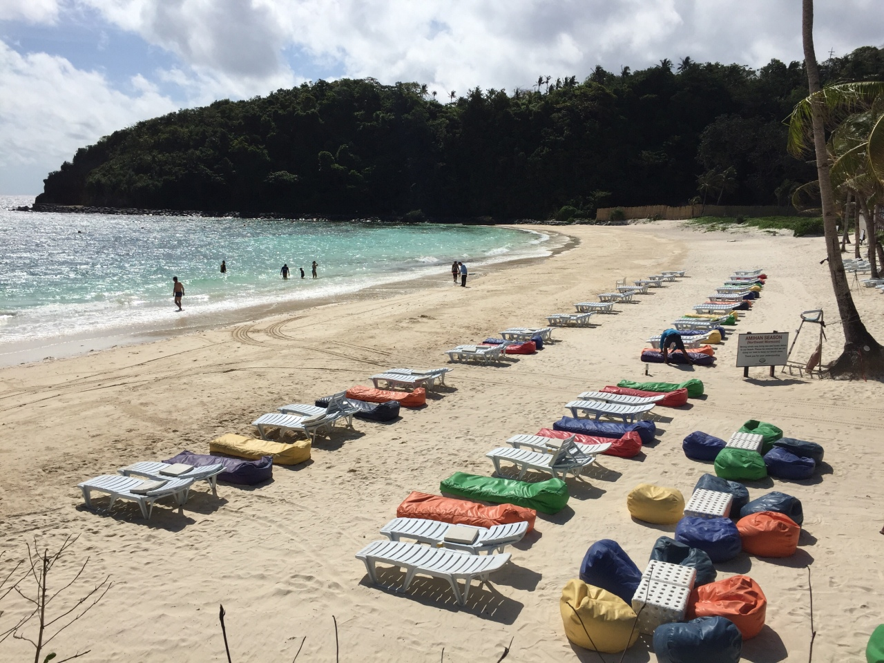Private beach lounge chairs