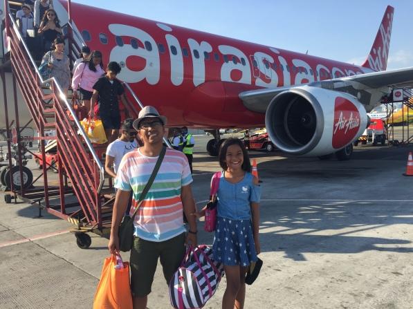 Airasia back to manila