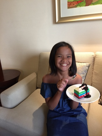 birthday cake for Shane given by Edsa Shangri-la