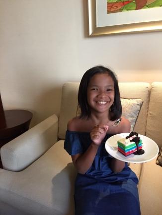 birthday cake for Shane given by Edsa Shangri-la