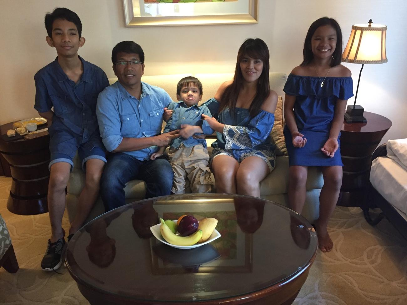 Family pic at Shangri-la