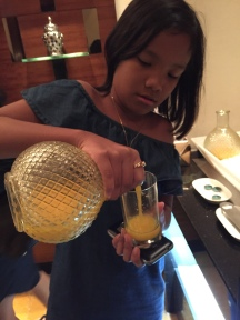 Pouring the juice