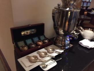 Tea and Nespresso station