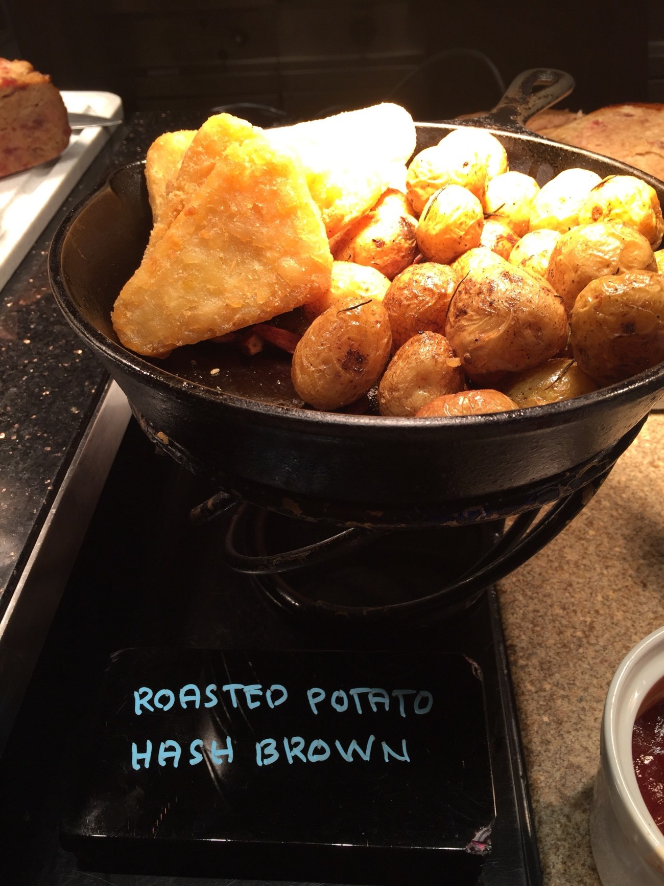 Roasted potatoes hash brown