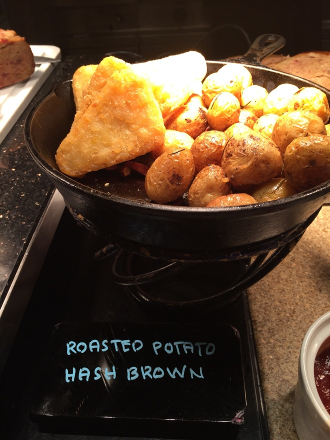 Roasted potatoes hash brown