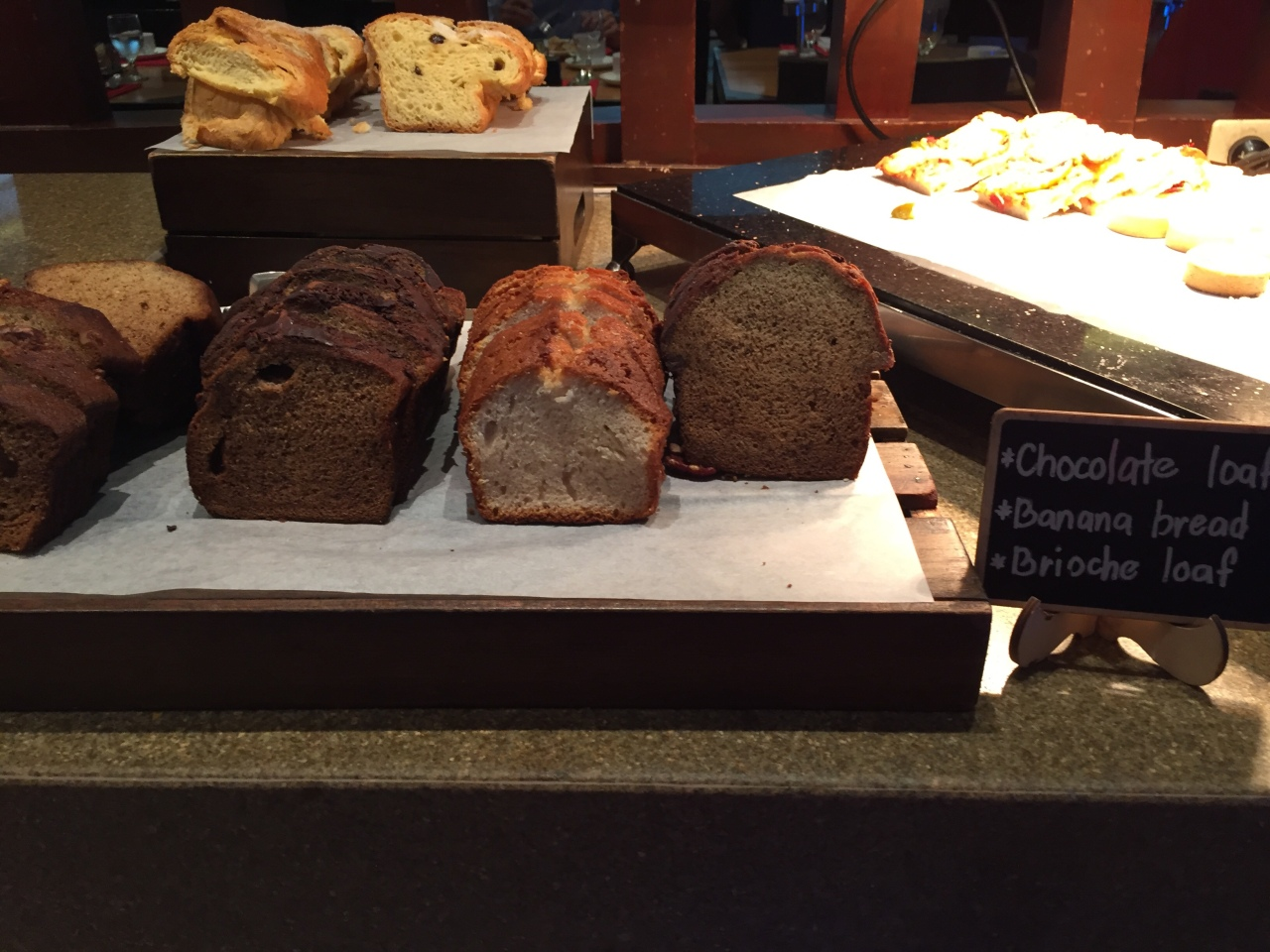 Chocolate loaf and banana bread