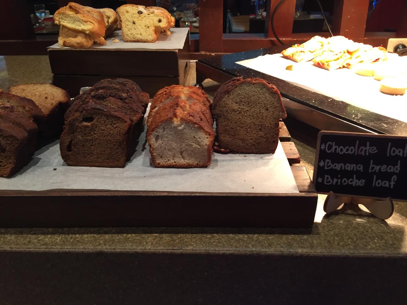 Chocolate loaf and banana bread