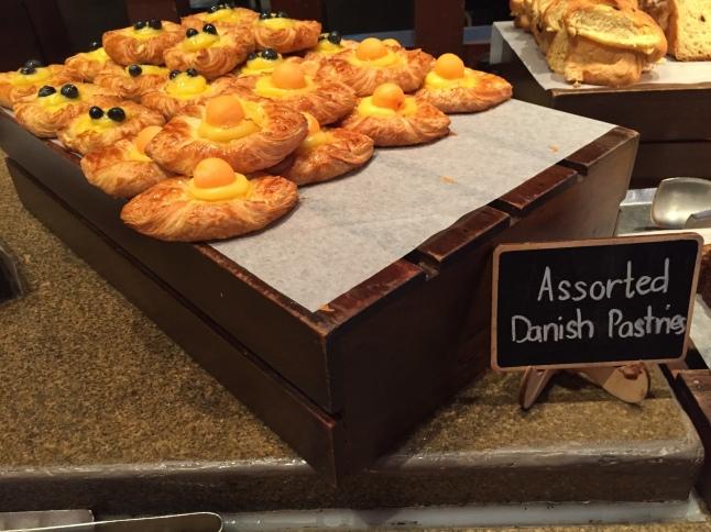 Assorted Danish pastries