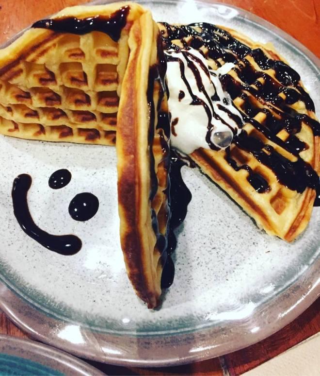 choco ala mode waffle