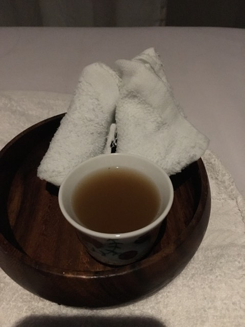 ginger tea after the treatment