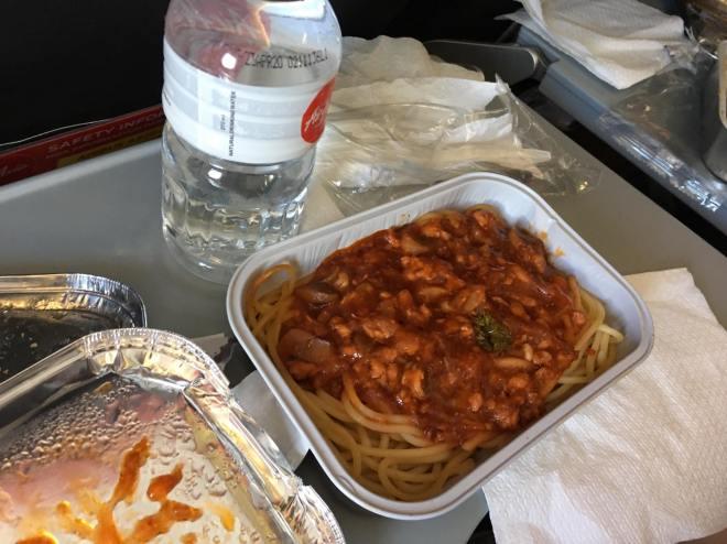 chicken spaghetti inflight meal.jpg