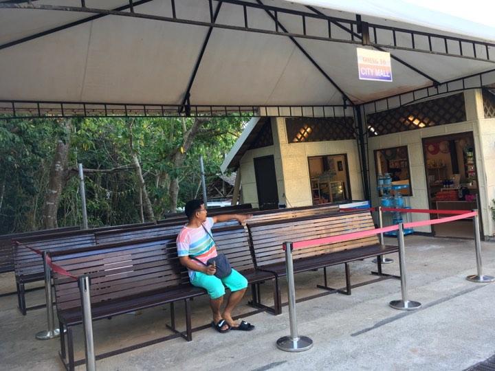 shuttle waiting area