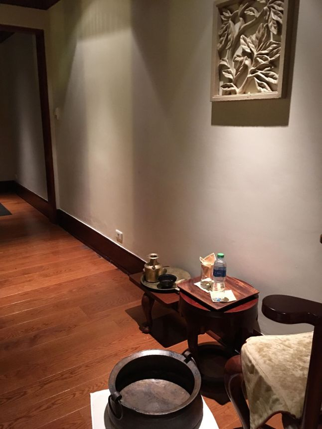 foot spa area couples room